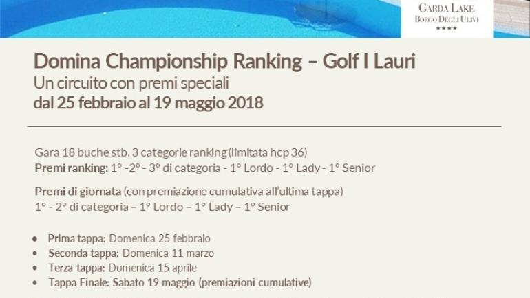 Domina Championship Ranking 2018 1^ tappa