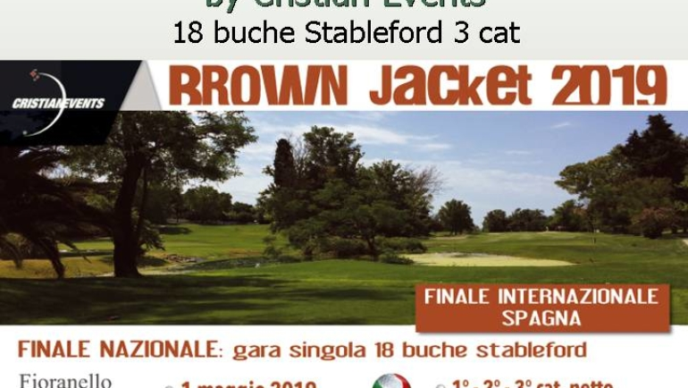 BROWN JACKET by Cristian Events – 18 buche stbl 3 cat