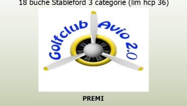 GOLF CUP AVIO 2.0 – 18 buche Stbl 3 cat. (lim. 36)