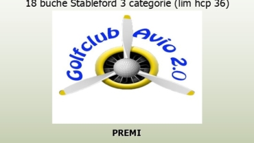 GOLF CUP AVIO 2.0 18 buche Stbl 3 cat.