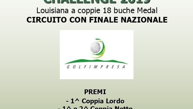 GOLFIMPRESA CHALLENGE – Louisiana a coppie 18 buche Medal