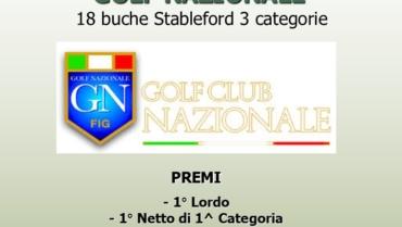 I LAURI CUP – RACE TO GOLF NAZIONALE – 18 buche Stbl 3 cat.
