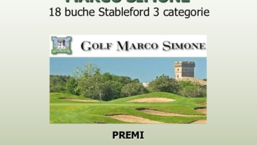 I LAURI CUP – RACE TO MARCO SIMONE – 18 buche Stbl 3 cat.