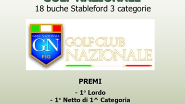 I LAURI CUP RACE TO GOLF NAZIONALE – 18 buche Stbl 3 cat.
