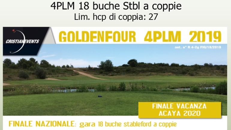 GOLDEN FOUR by Cristian Events – 4 PLM 18 buche stbl – ANNULLATA