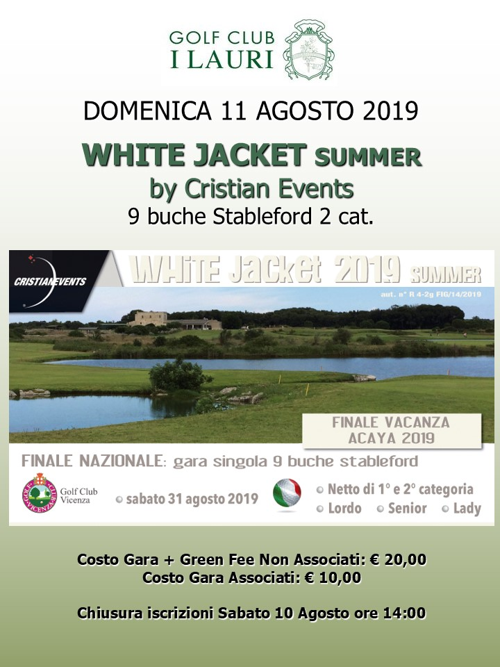 Acaya Golf Club Calendario Gare.White Jacket Summer By Cristian Events 9 Buche Stbl 2 Cat