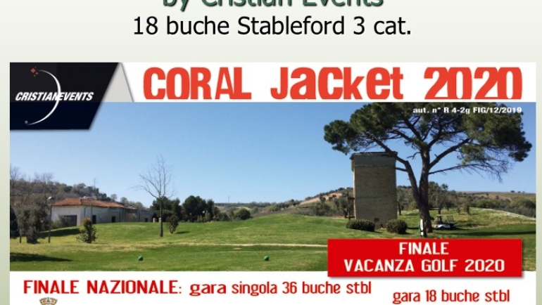 CORAL JACKET by Cristian Events 18 buche stbl 3 cat.