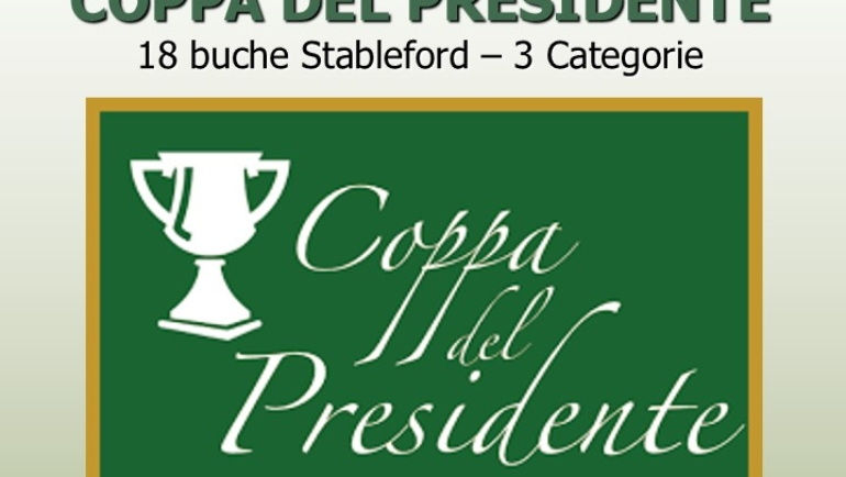 COPPA DEL PRESIDENTE 18 buche stbl – 3 cat.