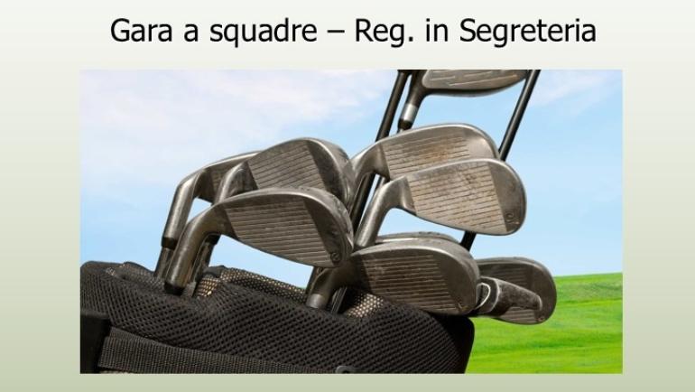 GARA A SQUADRE – Regolamento in Segreteria