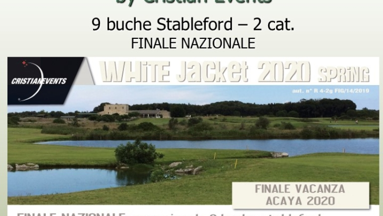 WHITE JACKET – Spring by Cristian Events – 9 buche stbl 2 cat.