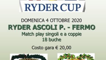 RYDER AP-FM – Match Play singolo e louisiana a coppie