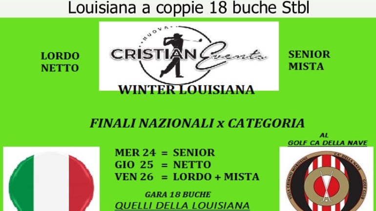 WINTER LOUISIANA by Cristian Events – Gara a coppie 18 buche stbl