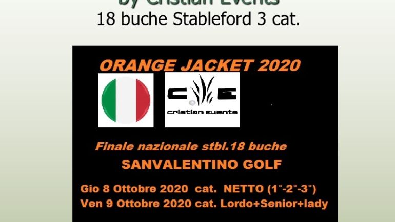 ORANGE JACKET by Cristian Events – 18 buche stbl 3 cat.