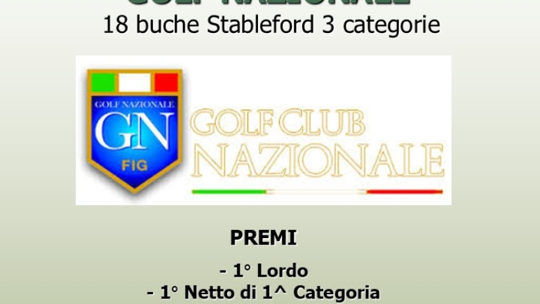 I LAURI CUP – RACE TO GOLF NAZIONALE