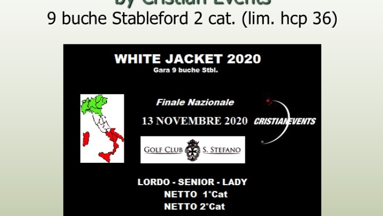 WHITE JACKET by Cristian Events – 9 buche stbl 2 cat.